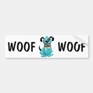 Blue Pooch Bumper Sticker