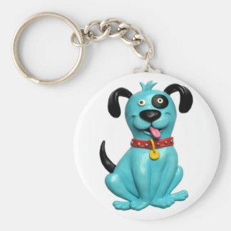 Blue Pooch Keychain
