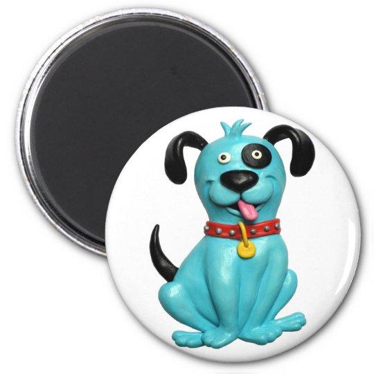 Blue Pooch Magnet