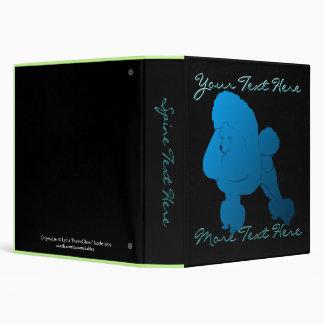 Blue Poodle Binder