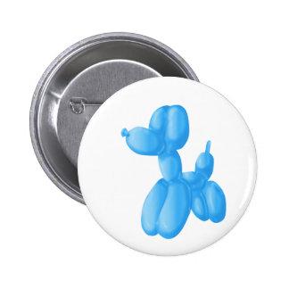 Blue Poodle Button