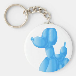 Blue Poodle Keychain