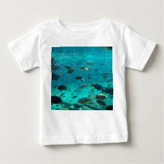 Blue pool of cichlids swimming around design baby T-Shirt