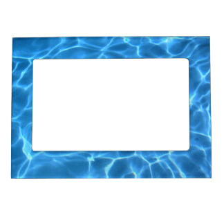 Blue Pool Pattern Magnetic Picture Frame