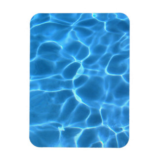 Blue Pool Pattern Rectangle Magnet