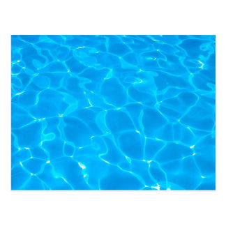 Blue Pool Water Postcard
