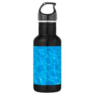 Blue Pool Water Water Bottle