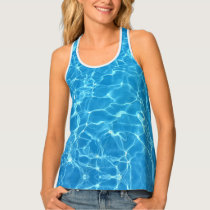blue pool - women' tank top