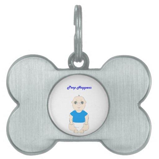 Blue Poop Baby Pet ID Tags