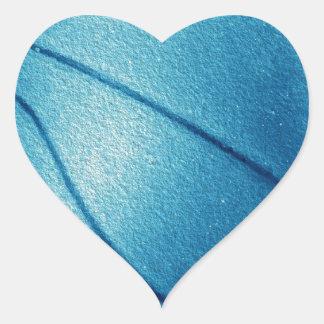 Blue Pop Art Basketball Heart Sticker