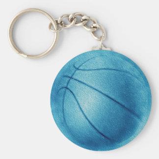 Blue Pop Art Basketball Keychain
