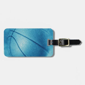 Blue Pop Art Basketball Tag For Bags