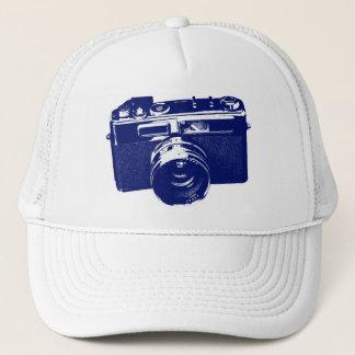 Blue Pop Art Camera Trucker Hat