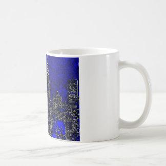 Blue Pop Art New York City Coffee Mug