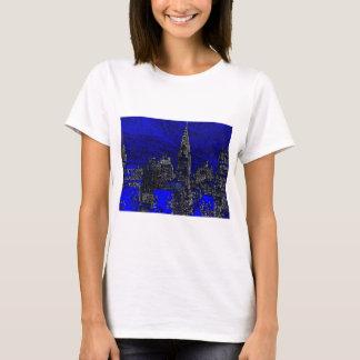 Blue Pop Art New York City T-Shirt