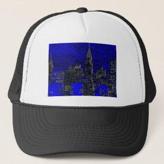 Blue Pop Art New York City Trucker Hat