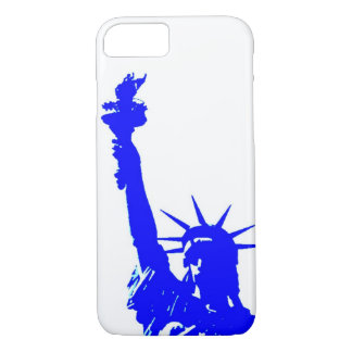 Blue Pop Art Statue of Liberty iPhone 7 Case