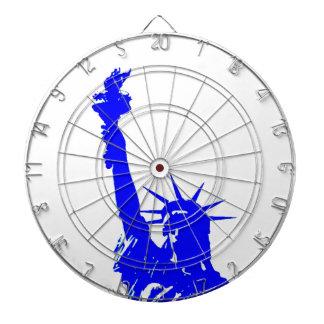Blue Pop Art Statue of Liberty NYC Dartboards