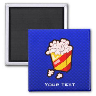 Blue Popcorn 2 Inch Square Magnet