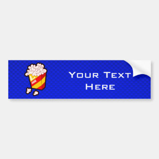Blue Popcorn Bumper Sticker
