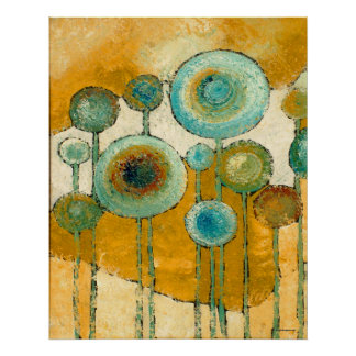 Blue Poppies #1 Abstract Art Print