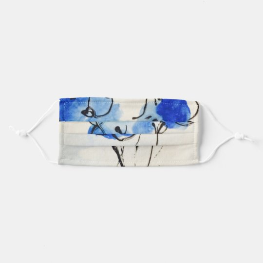 Blue Poppies Face Mask
