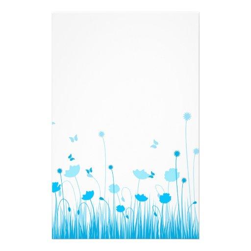 Blue poppies Stationery