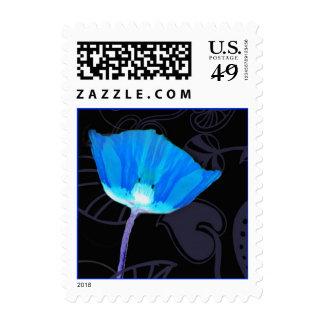 Blue Poppy Bar/Bat Mitzvah Stamps