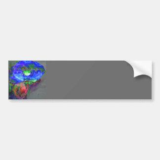 Blue Poppy Bumper Sticker