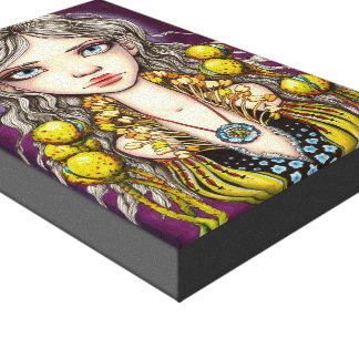 Blue Poppy Gallery Wrap Canvas