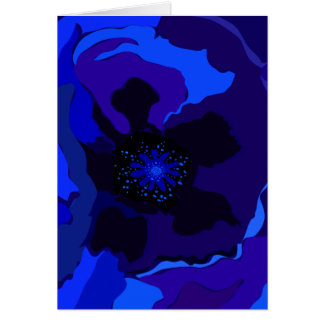 Blue Poppy Card