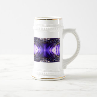 Blue Poppy Fish Abstract Beer Stein