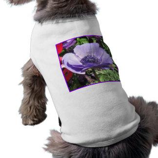 Blue Poppy Flower Pet T-shirt
