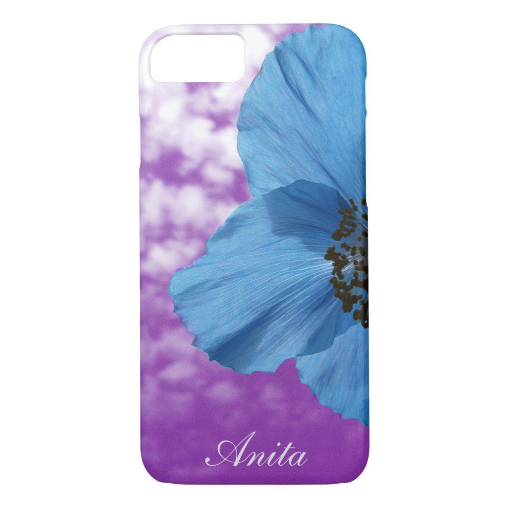 Blue Poppy Flower Purple Sky