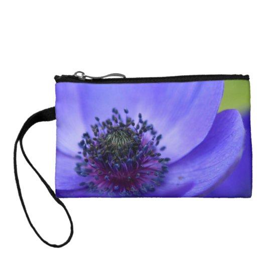 Blue Poppy Flowers Change Purse