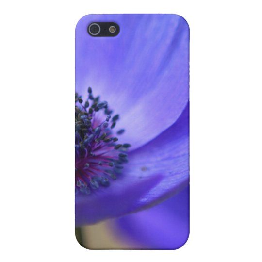 Blue Poppy Flowers Cover For iPhone SE/5/5s