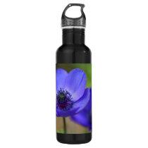 Blue Poppy Flowers Stainless Steel Water Bottle