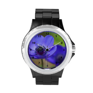 Blue Poppy Flowers Watches