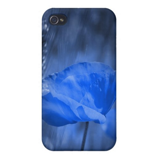 Blue poppy iPhone 4 cover