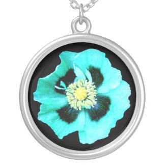 Blue Poppy necklace black