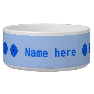 Blue poppy personalised bowl