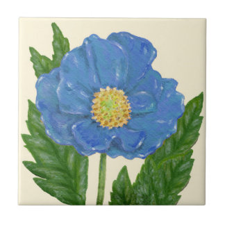 Blue Poppy tile