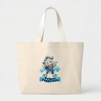 Blue Poppycock Bags