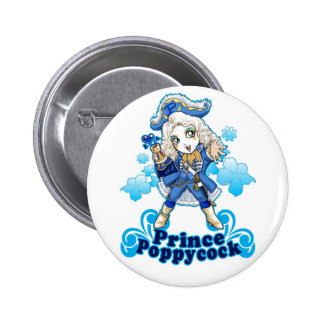 Blue Poppycock Buttons