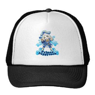 Blue Poppycock Mesh Hats