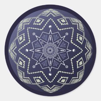 Blue Porcelain Sphere Mandala Sticker