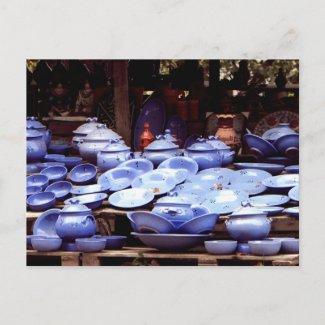 Blue porcelains - Postcard postcard