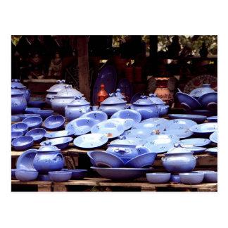 Blue porcelains - Postcard