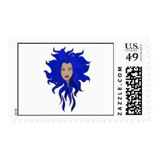 Blue Postage Stamp