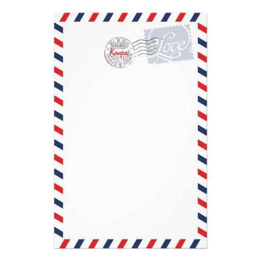 Blue Postal Service Collection Stationery